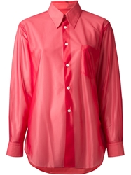 Comme Des Garcons Vintage Sheer Shirt Red
