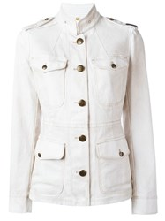 Fay Buttoned Jacket White