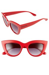 Perverse Women's 'Acid' 50Mm Cat Eye Sunglasses Red Black Red Black