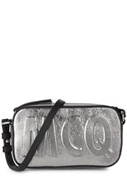 Mcq By Alexander Mcqueen Addicted Silver Leather Cross Body Bag