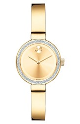 Movado Women's 'Bold' Diamond Bezel Bangle Watch 25Mm