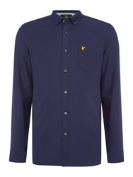 Lyle And Scott Long Sleeve Oxford Shirt Navy