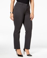 Styleandco. Style Co. Plus Size Slim Leg Pants Only At Macy's Carbon Grey