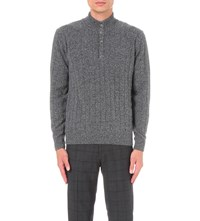 Corneliani Knitted Wool Blend Jumper Lt Grey