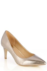 Oasis Pointed Court Shoe Metallic