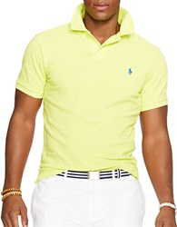 Polo Ralph Lauren Classic Fit Mesh Polo Shirt Neon Yellow