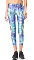Zara Terez Blue Meditation Performance Capri Leggings Multi