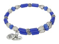 Alex And Ani Seabed Wrap Bracelet Navy Silver Bracelet Blue