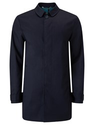 John Lewis Kin By Bonded Cotton Mac Navy