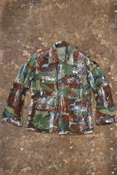 Forever 21 Paint Stain Camo Army Jacket