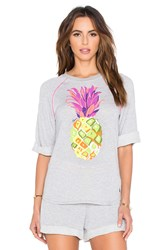 Trina Turk Pineapples Funfetti Sweatshirt Gray