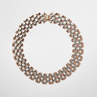 River Island Womens Rose Gold And Silver Tone Chain Necklace