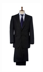 Chester Barrie Plain Hopsack Suit Trousers Dark Grey