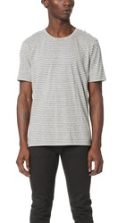 Club Monaco Striped Crew Neck Tee Grey Stripe