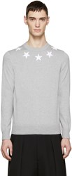 Givenchy Grey Knit Star Sweater