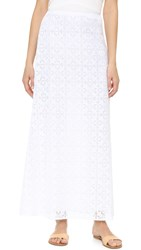 Jenni Kayne Lace Long Skirt White