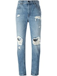 Alexander Wang Distressed Jeans Blue