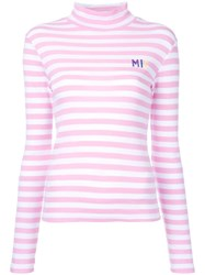 Fleamadonna Striped Longlseeved T Shirt Pink Purple