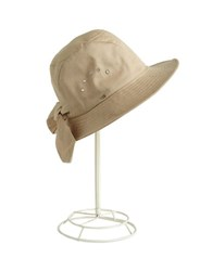 Betmar Cotton Cloche Knot Hat Sand