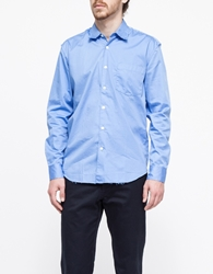 Our Legacy First Shirt Raw Edge Generic Blue