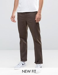 Asos Straight Chinos In Brown Turkish Coffee