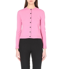 Valentino Lace Back Knitted Cardigan Pink