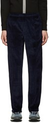 Opening Ceremony Navy Velour Track Pants
