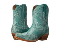 Lucchese Sarabeth Turquoise Cowboy Boots Blue