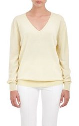 The Row V Neck Sabbry Sweater Colorless