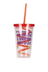 Topshop Unicorn Straw Cup Clear
