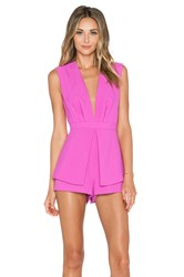 Finders Keepers Next In Line To Take A Bow Playsuit Fuchsia