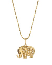 Sydney Evan 14K Gold Diamond Elephant Pendant Necklace