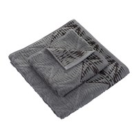 Pendleton Pecos Sculpted Towel Graphite Bath Towel