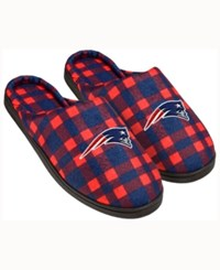 Forever Collectibles New England Patriots Flannel Slide Slippers Navy