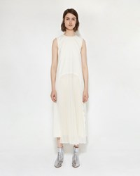 Maison Martin Margiela Wool Gabardine Dress Ecru