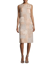 Nina Ricci Feather And Sequin Patchwork Dress