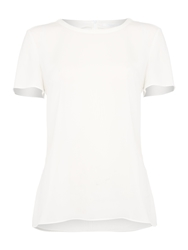 Hugo Boss Ilyna Short Sleeve Top Cream