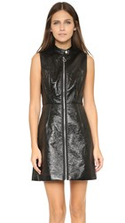 Marc By Marc Jacobs Coated Crinkle Pleather Dress Black