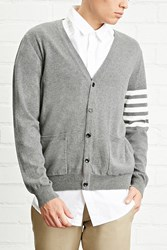 Forever 21 Stripe Sleeve Cardigan