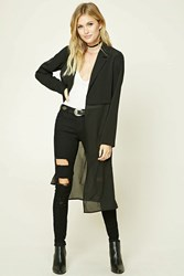 Forever 21 Contemporary Longline Blazer Black