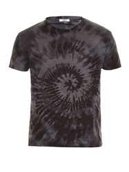 Valentino Short Sleeved Tie Dye T Shirt Grey Multi