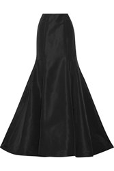 Oscar De La Renta Silk Faille Maxi Skirt Black