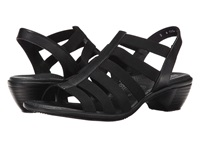 Ara Peony Black Calf Stretch Women's Sandals