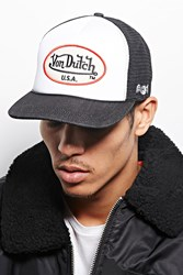 Forever 21 Von Dutch Logo Trucker Hat Black White