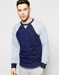 Native Youth Contrast Grey Indigo Sweatshirt