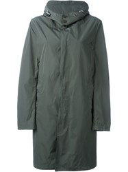 Mackintosh Buttoned Up Raincoat Green