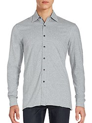 Report Collection Long Sleeve Heathered Sportshirt Grey