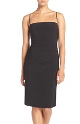 Laundry By Shelli Segal Women's Spaghetti Strap Ruched Cocktail Dress Black