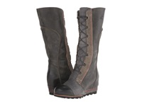 Sorel Cate The Great Wedge Charcoal Women's Dress Boots Gray