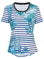 Betty Barclay Floral And Stripe Tee Multi